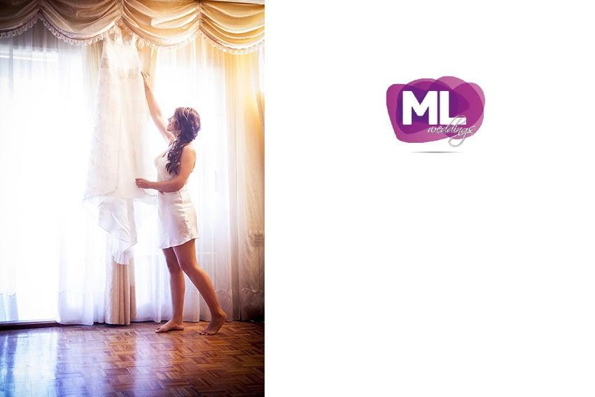 La novia en el momento de arreglarse para la boda